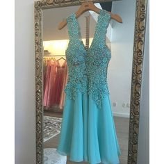 Green Homecoming Dress with Beading,Cute Homecoming Dress,Short Prom Dress,70426