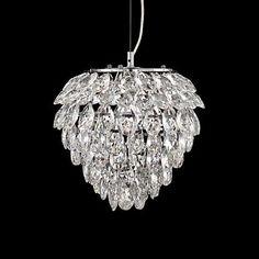 "Possini Euro Design Isabela 12"" Wide Crystal Pendant Light - #2X291   www.lampsplus.com"