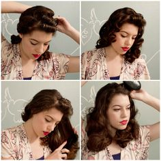 How to do pin-curls at Vixen Vintage