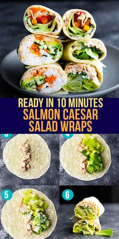 These three salmon wraps deliver big on flavor, are simple to prepare, and are perfect for an easy lunch! Made with simple ingredients, you can make them quickly. #sweetpeasandsaffron #bestlunchideas #simpleingredients #readyunder30minutes #salmon Lunch To Go, Lunch Meal Prep, Meal Prep Bowls, Lunch Box, Work Lunches, Prepped Lunches, Lunches And Dinners, Best Lunch Recipes, Amazing Recipes