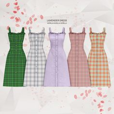 The Sims 4 Lavender Dress by Sims Four, Sims 4 Mm Cc, Sims 1, Sims 4 Mods Clothes, Sims 4 Clothing, Vêtement Harris Tweed, Vetements Clothing, Sims 4 Dresses, Sims 4 Outfits