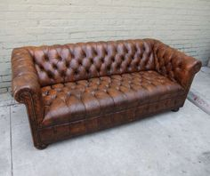 english leather tufted sofa image 2