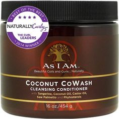 As I Am Coconut CoWash Cleansing Conditioner - CurlMart ~ Great slip, Paraben-free, Silicone-free, Sulfate-free. Rejoice, curlies!