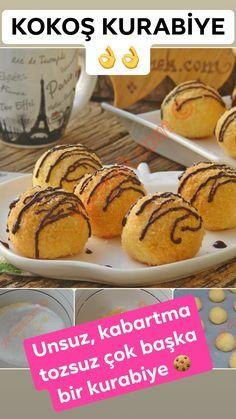 leckere kuchen Unsuz, kabartma tozsuz, dop dolu, ok zel bir kurabiye tarifi. Turkish Recipes, Cookies Et Biscuits, Stevia, Cookie Recipes, Muffin, Food And Drink, Yummy Food, Sweets, Eat