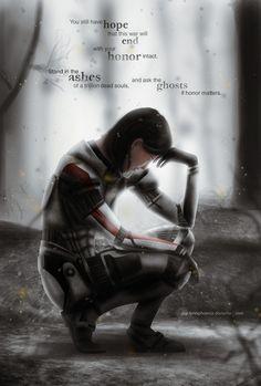 Commander Shepard_Doubts by ~Gigi-FenixPhoenix on deviantART