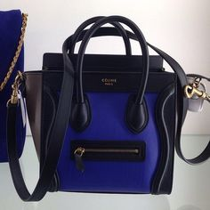Celine nano Luggage, tri-colored.