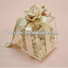 Promotional Clear Acryl Box With Ribbon For Gift - Buy Promotional Clear Acryl Box With Ribbon For Gift,Acrylic Wedding Gift Box,Plastic Gift Box With Ribbon Product on Alibaba.com