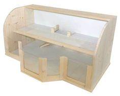 Gehege Dimmi Easy - Holzkäfig edel Meerschweinchen Holzstall Holzgehege NEU1,3m²