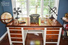 Vintage Desk Makeover - The Navage Patch
