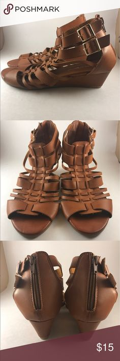 CUTE Gladiator Sandal perfect for SUMMER!! These adorable gladiator sandals are perfect for Summer!! They zip in the back and have a little heel for a little extra height. Plus the leather is so comfortable! Nature Breeze  Shoes Sandals