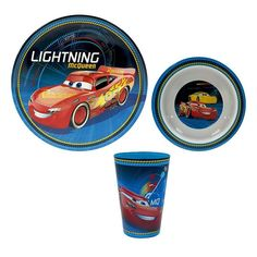 Disney / Pixar Cars 3 3-pc. Dinnerware Set by Jumping Beans®, Blue