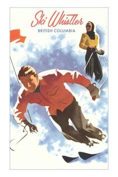 #Whistler Vintage Ski Poster  #CDNGetaway