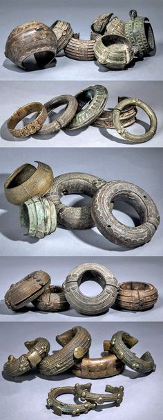 "virtual-artifacts: ""Africa, Collection of West African bracelets and anklets, from the collection of Andre Balandin """