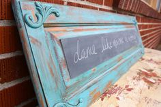 Perfectly charming, this extra long repurposed cabinet door  chalkboard is the ultimate way to personalize your space.    **I have been making