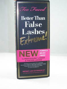 2015 Too Faced Better Than False Lashes Extreme set// longer, fuller lashes using fibers, review by musings of a muse