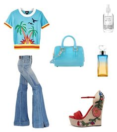 """""""Summers spirit"""" by misslmos ❤ liked on Polyvore featuring Roberto Cavalli, Just Cavalli, Gucci, Furla, Herbivore and Calvin Klein"""