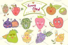 Funny food - Illustrations