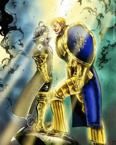 Estarossa & Escanor (The Seven Deadly Sins) Art Anime, Otaku Anime, Manga Anime, Lord Escanor, Escanor Seven Deadly Sins, Praise The Sun, Netflix Anime, 7 Sins, Seven Deady Sins