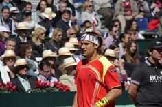 David Ferrer en su partido de cuartos de final de la Copa Davis.