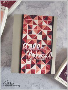 handgemachte Grußkarte mit Turnabout-Stempel von Concord&9th und Wplus9 | fraeulein-nebel.org Concord And 9th, Hugs, Cardmaking, Thankful, Cards, Xmas Cards, Stamps, Homemade, Birthday