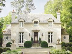 Exterior, French style, clean lines, stone.