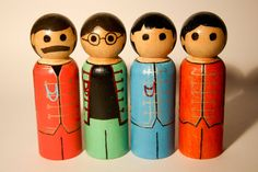 The Beatles - Sergeant Pepper's Lonely Hearts Club peg people