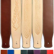 tooled leather guitar straps