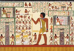 Wall Painting with Egyptian Hieroglyphics from Tomb 24, Giza