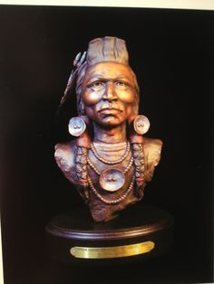 """""""Crow"""" bronze Native American sculptue by Sherry Housley"""