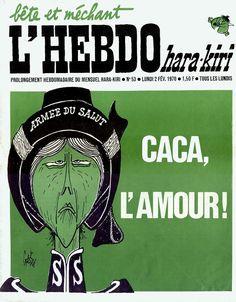 L'Hebdo Hara Kiri - # 53 - 2 Février 1970 - Couverture : Gébé