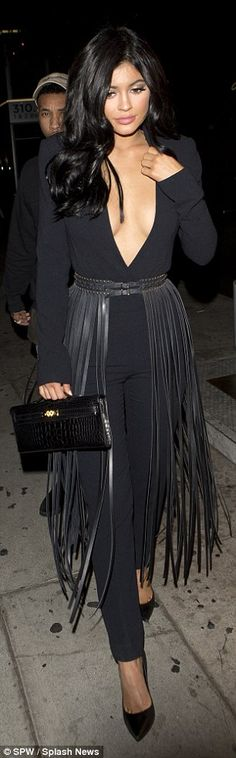 Navel gazing:For their night out at Kardashian dinning headquarters, The Nice Guy, Kylie ...