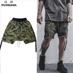 d84e866f6391 Hi-street Sweatpants Shorts Summer Knee-length Shorts Army Shorts