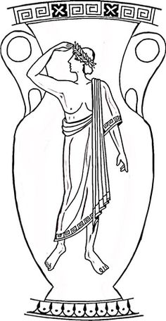 Risultati immagini per greek vase coloring page Art Nouveau, Greece Art, Greek Flag, Flag Coloring Pages, Greek Pottery, Greek History, Black Vase, Wooden Vase, Illustration