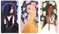 Throne of Glass Ladies Small Print Set