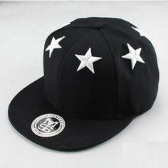 99d871506c0 Casquette Snapback Swag noire avec 6 étoiles blanches brodées sur dessus