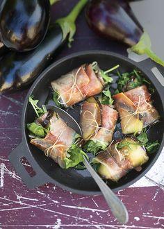Recette de saltimboccas d'aubergines au jambon speck - eggplant wrap with  ham - Marie Claire Idées