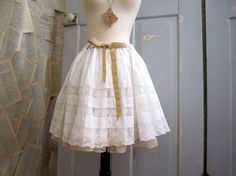 White Victorian Lace Skirt --- Turn of the century
