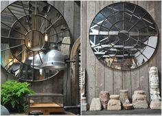 Зеркало в стиле стимпанк #интерьер #дизайн #стимпанк #декор
