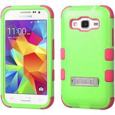 MYBAT TUFF M-Stand Galaxy Core Prime Case - Green/Pink