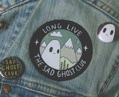 Cute Iron-on Patches - The Sad Ghost Club