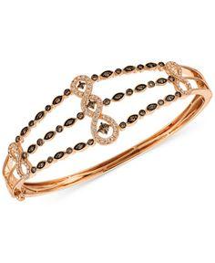Le Vian Chocolatier® Diamond Bangle Bracelet (1 ct. t.w.) in 14k Strawberry Gold®
