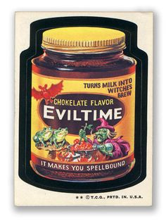 Topps Wacky Packages  6th Series 1974 EVILTIME