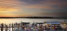 Dining Out, Family Style | Hilton Head Island Local Seafood, Hilton Head Island, Al Fresco Dining, How To Memorize Things, Sunset, Beach, Places, Water, Travel