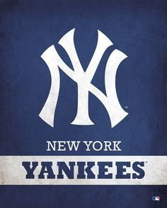 Parade your passion for the New York Yankees with this Printed Canvas Logo from ScoreArt. - New York Yankees Logo Yankees Logo, My Yankees, Yankees News, New York Yankees Baseball, New York Islanders, New York Mets, New York Giants, Yankees Pictures, Mlb Team Logos