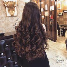 ♡Breakfast at Avery's♡ Curls For Long Hair, Very Long Hair, Long Curly Hair, Curly Hair Styles, Chestnut Hair, Waist Length Hair, Beautiful Hair Color, Long Layered Hair, Great Hair