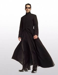 Neo in Cassock style overcoat from Matrix: Reloaded ...is this the coat?