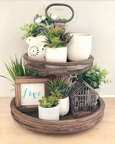 15 Pretty Tiered Trays for Spring - The Organized Dream