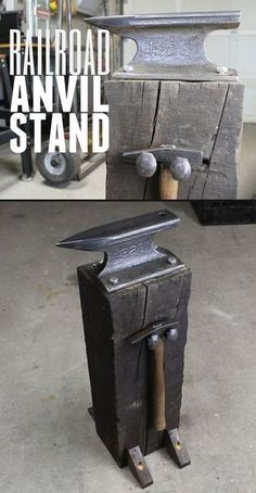 Easy to follow, step-by-step instructions for how to make this rustic looking anvil stand.