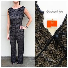 SEE IT ON | Don't fear the jumpsuit trend. Obsession is an understatement! See ya today from 10am- 6pm, Mingle lovers! #dressmingle #lacejumpsuit #youneedit #now #tgif #love #jumpsuit