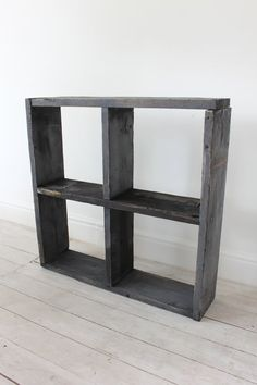 Reclaimed BlackWashed Scaffolding Boards Display by inspiritdeco, £165.00